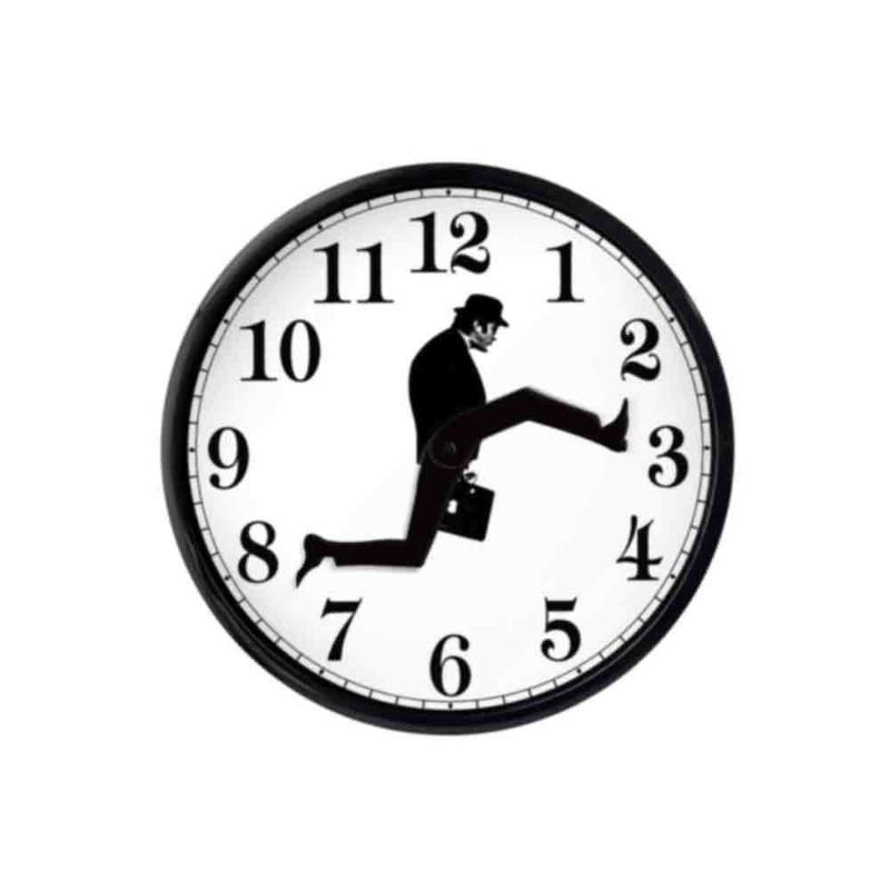 Horloges murales comédie britannique inspirée horloge créative comédienne décor de la maison de décoration de nouveauté montre drôle marche silencieux muet