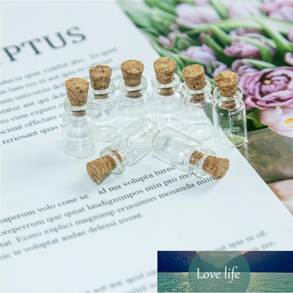 0.5ml Pendentifs en verre mignon Mini bouteilles avec liège vide petit petit flacon de vœux décoration artisanat pots 100pcs