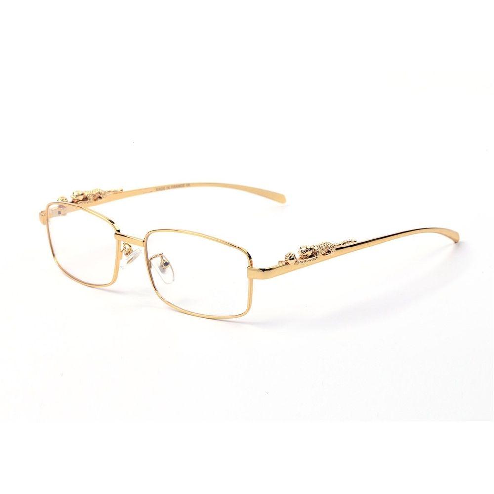Fashion Gafasses Marco Marca Made Pawes Gafas Hombres Oro Goldless Eyeglesses para Anti Reflective Clear Lens Prescripción Spectacles con caso