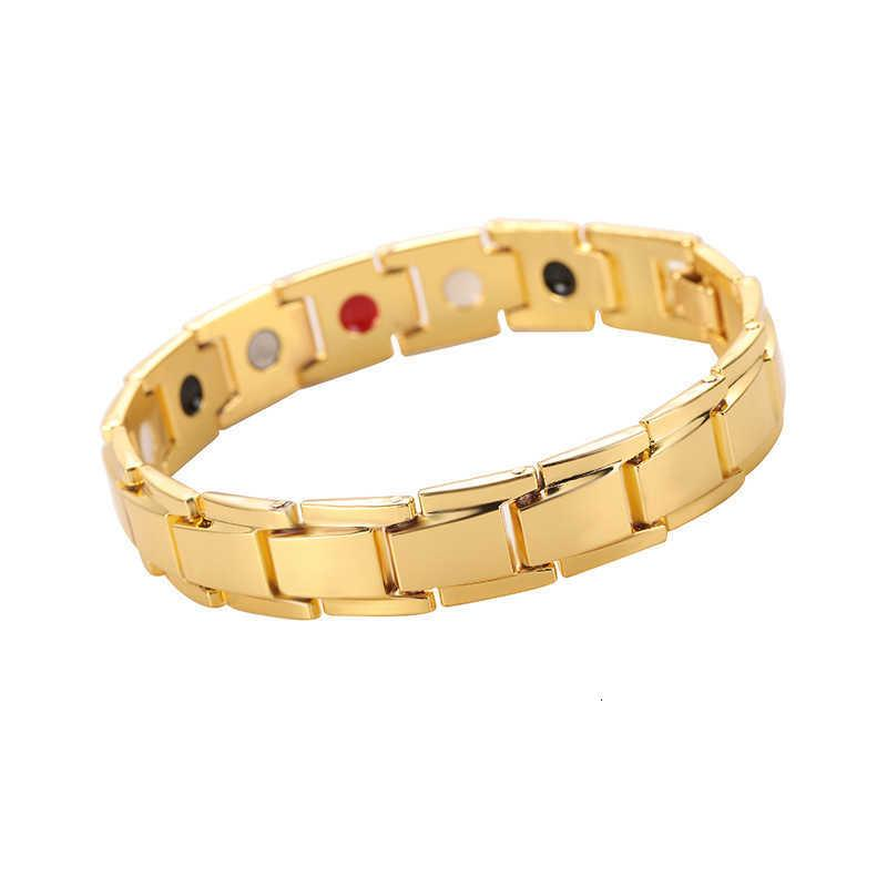 Cafi Jewelry Men's Bracelet Magnetic Therapy Hematite Steel Hand Ring Detachable