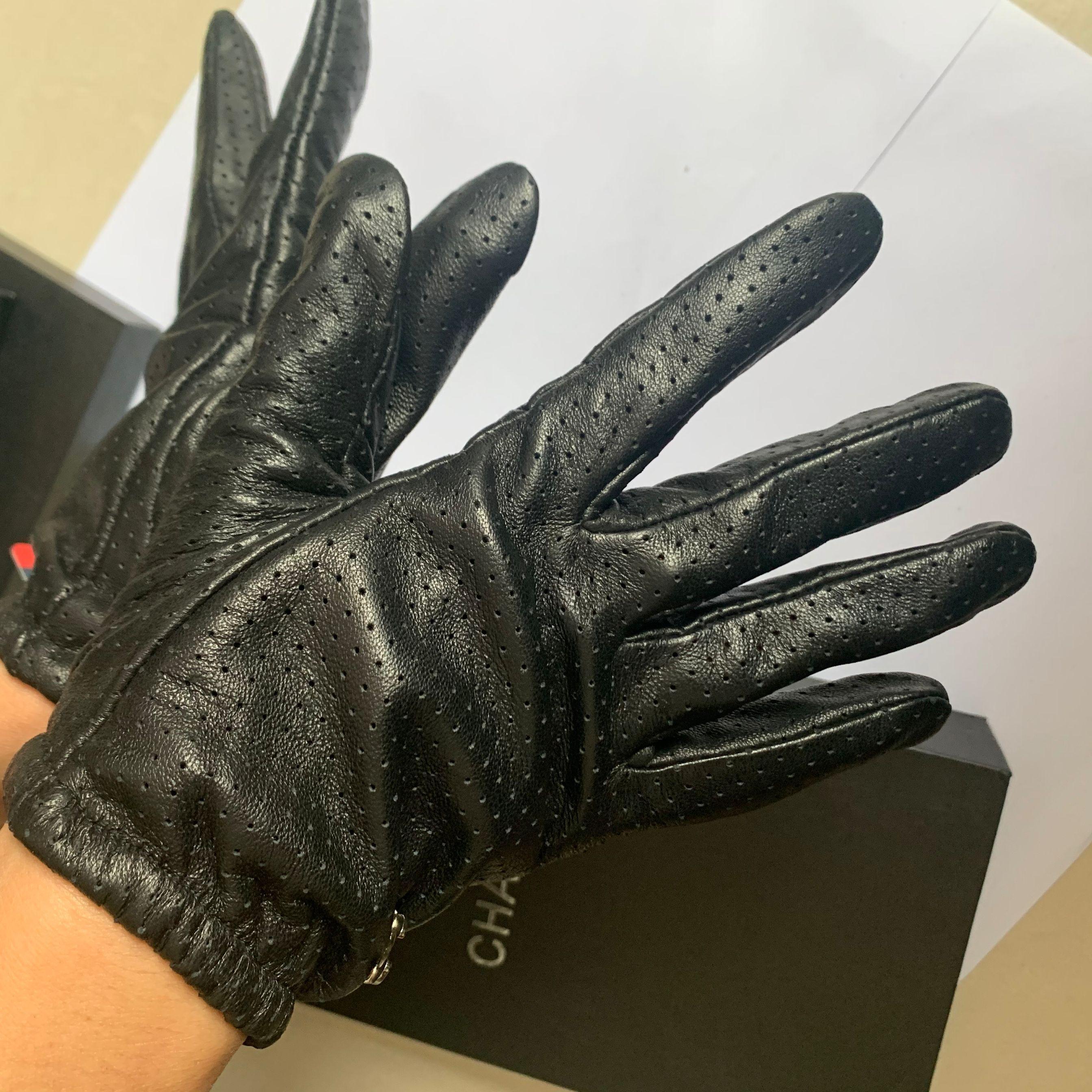 Женские качественные кожаные перчатки и шерстяные сенсорный экран кролика волос теплые овчины пять пальцев перчатки