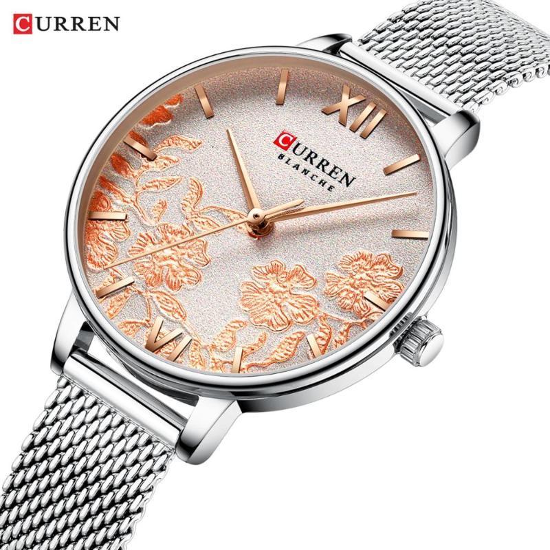 Marka Kadınlar Lüks Bayan Şık Şerit Bilezik Bilek İzle Hediyeler Bayanlar Kadın Kızlar için Saat Zegarek Damski Saatı