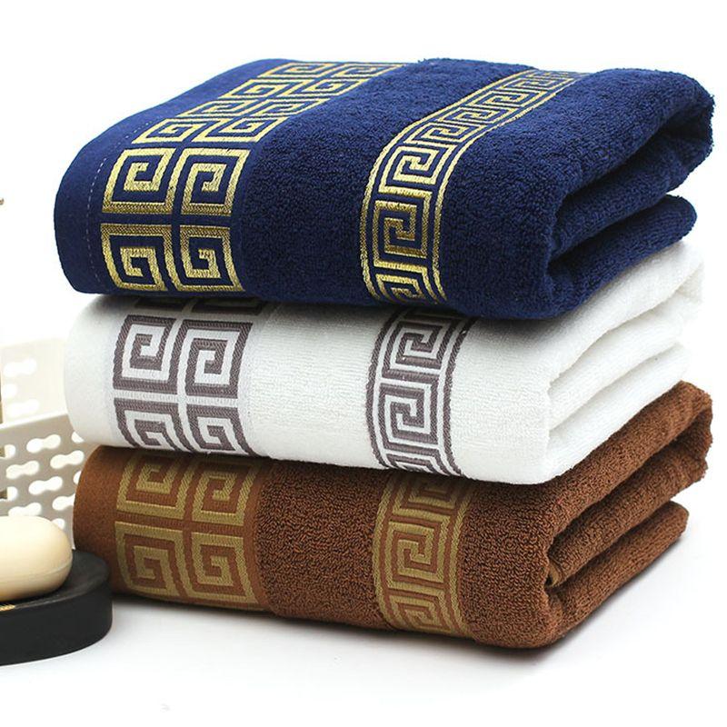 Serviette en coton pur ne sera pas sans peluche 32 Strand 100g Jacquard Design Luxe de luxe Soft Wash Bath Maison Absorbant Hommes et Femmes Widfs Wholesale