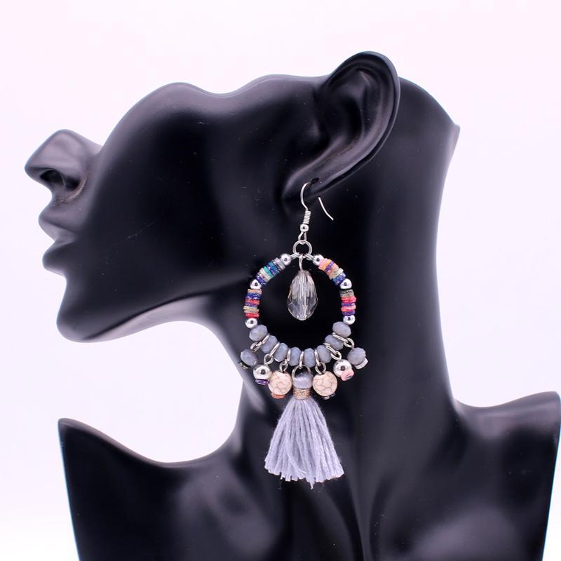 Dangle & Chandelier Onlyee Bohemian Ethnic Bead Tassel Drop Earrings For Women Fashion Jewelry Handmade Boho Vintage Wedding Earring Wholesa