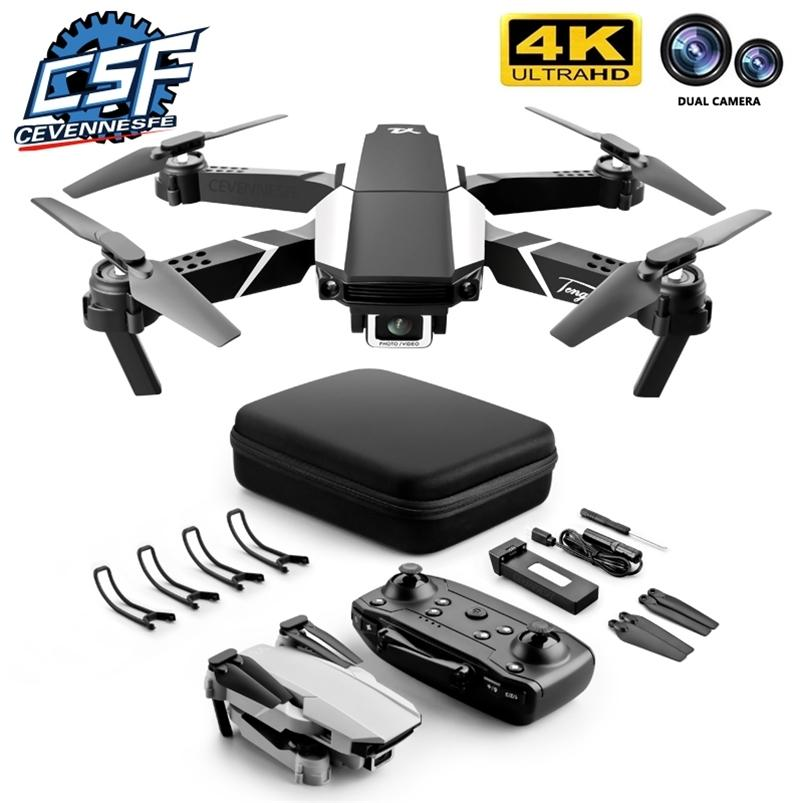 CEVENNESFE Drone 4K HD Dual Caméra Visual Positionnement Visual 1080P WiFi FPV Hauteur Hauteur Préservation RC Quadcopter Drones Jouets 210726