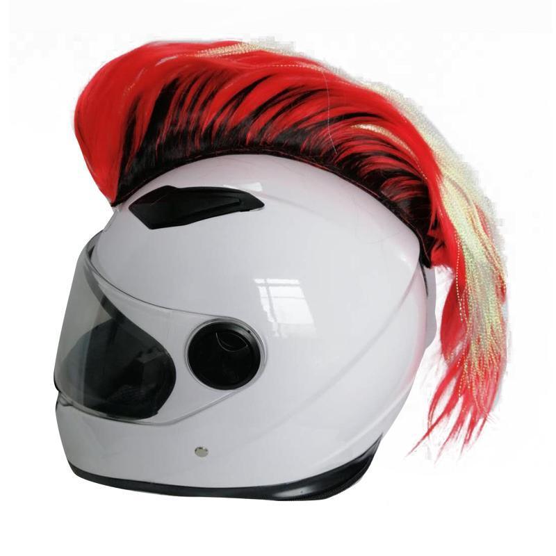 Cascos de la motocicleta Pasillo para el cabello Piezas de repuesto de la moda Casco de bicicleta suave del esquí MOHAWK WIG SPORTSWARE ACCESORIOS SINTETICO DIY