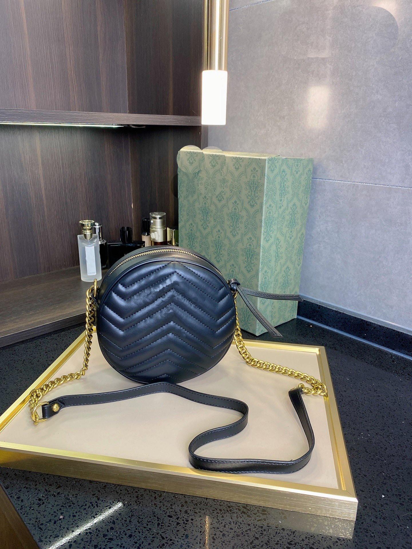 Quality Luxury Fashion Designer Totes Mini Bolsa de hombro Bolsos de cuero para mujer Mujeres Pequeñas bolsas redondas Messenger bolsas bolso de hombro # 12