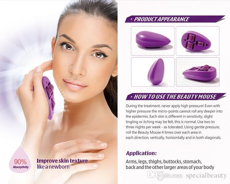 Beauty Mouse Micro Needle Roller Derma Rollers Needles Titanium Micro Mezoroller Machine for Skin Care and Body massage