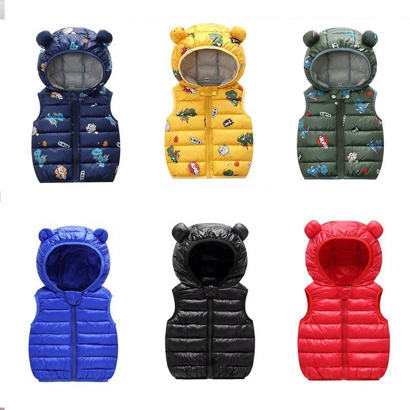 2021 otoño cálido cálido bebé algodón chaleco niños ropa exterior ropa de niños ropa niños chaquetas con capucha chalecos