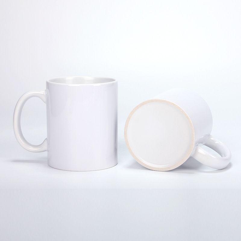 11oz Sublimação Embalagem Embalagem Personalidade DIY Transferência Térmica Cerâmica Caneca Branca Presentes do Partido do Copo de Água Bebida pelo mar