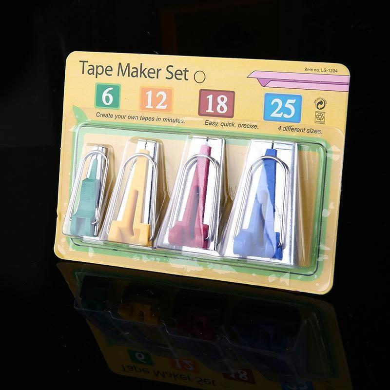 Accessori per cucire Bias Tapeatori di nastri - 5 Dimensioni 6mm 9mm 12mm 18mm 25mm Bias Biás Binding Tape Maker Set di utensili