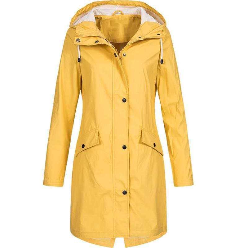 المرأة الخندق معاطف المرأة سترة أزياء الشتاء الخريف الصلبة المطر في الهواء الطائد ماء مقنع معطف ويندبروف جاكيتات famale