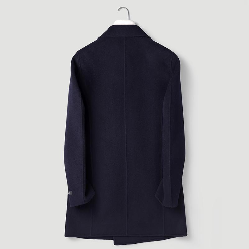 Cappotto di lana 100% Autunno Giacca invernale Uomini Handmade Cappotti di lana doppiamente fatti a mano Cappotti di lana da uomo Overcoat P-S8305Z Y1300 Miscele da uomo