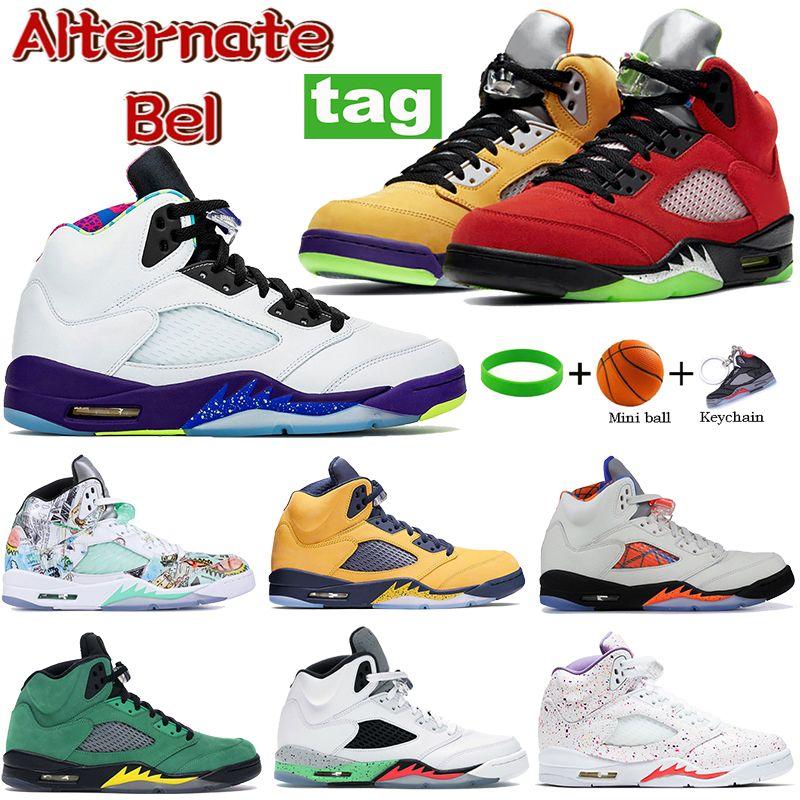 Yeni Beyaz Stealth Alternatif Bel 5 5 S Basketbol Ayakkabı Ne Antrasit Yangın Kırmızı Gümüş Dil Siyah Metalik Erkekler Sneakers Eğitmenler 40-47