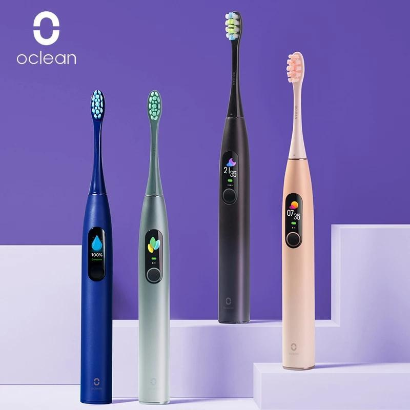 Versión global Oclean X Pro Sonic Cepillo de dientes eléctrico para adultos IPX7 Ultrasonic Cepillo de dientes de carga rápida automática con pantalla táctil para Xiaomi