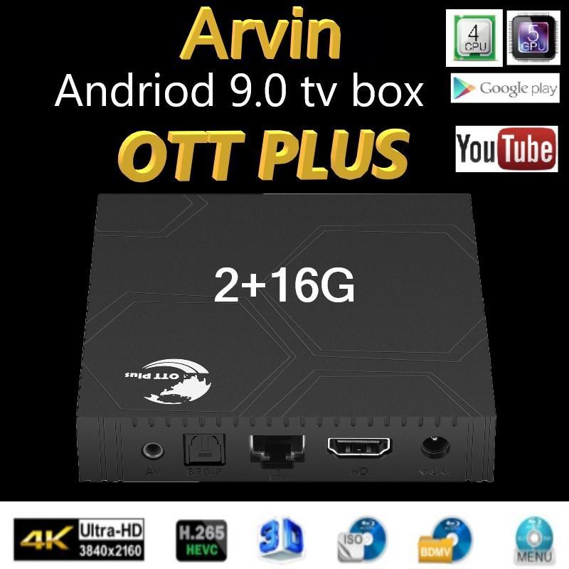Spain Stock Ott plus Andriod 9.0 tv box Quad Cord 2G 16GB Smart TV Box Amlogic S905X3 2.4G Wifi 4k Set Top Boxes