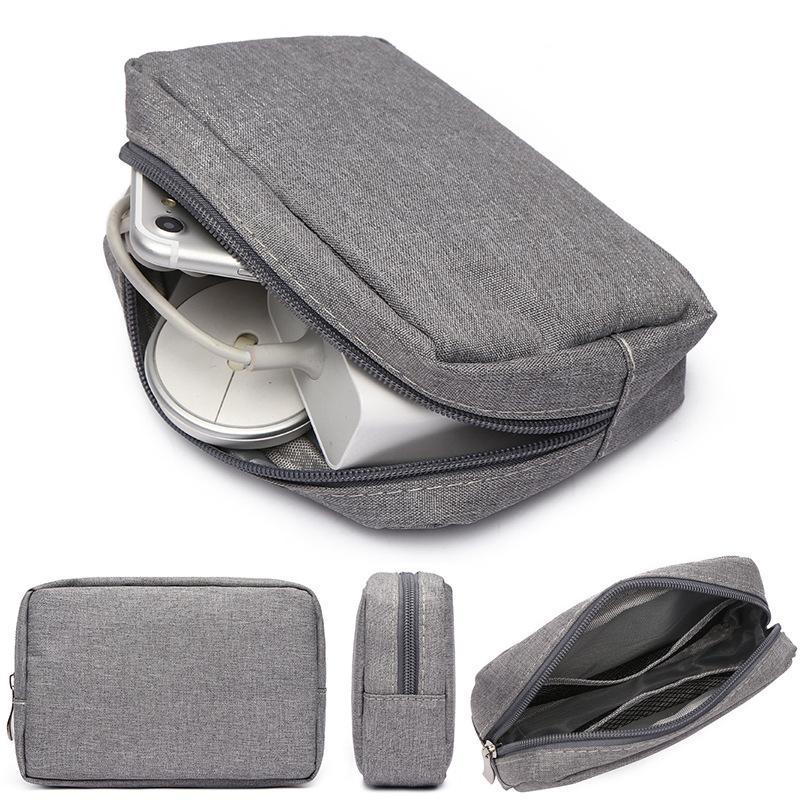 Card Holders Hard Case Power Bank Carrying Box For IPad Mini IPhone SSD Bag External Drive Disk Mouse
