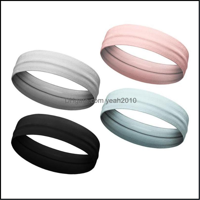 Athletic Outdoor As & Outdoorsfashion Nylon Sports Sweatband Yoga Hair Bands Head Sweat Headband Safety Drop Delivery 2021 Ifryg
