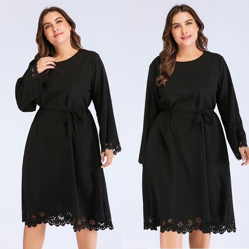 Vestidos de talla grande Moda Vestido de mm gordo de mujer grande