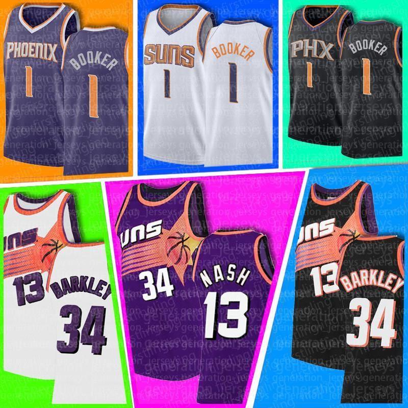 "Devin Charles Booker Barkley Kawhi Paul Leonard George Phoenix ""Suns"" La ""Clippers"" Jersey Steve Josh Nash Jackson Homens"