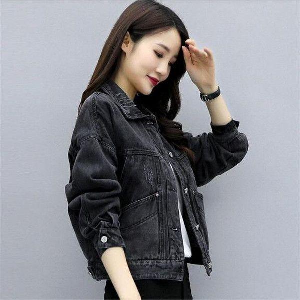Nuova primavera e autunno Coreana New Loosed Net Red Denim Giacca Denim Brevi Black Women Giacche Vestiti Capispalla