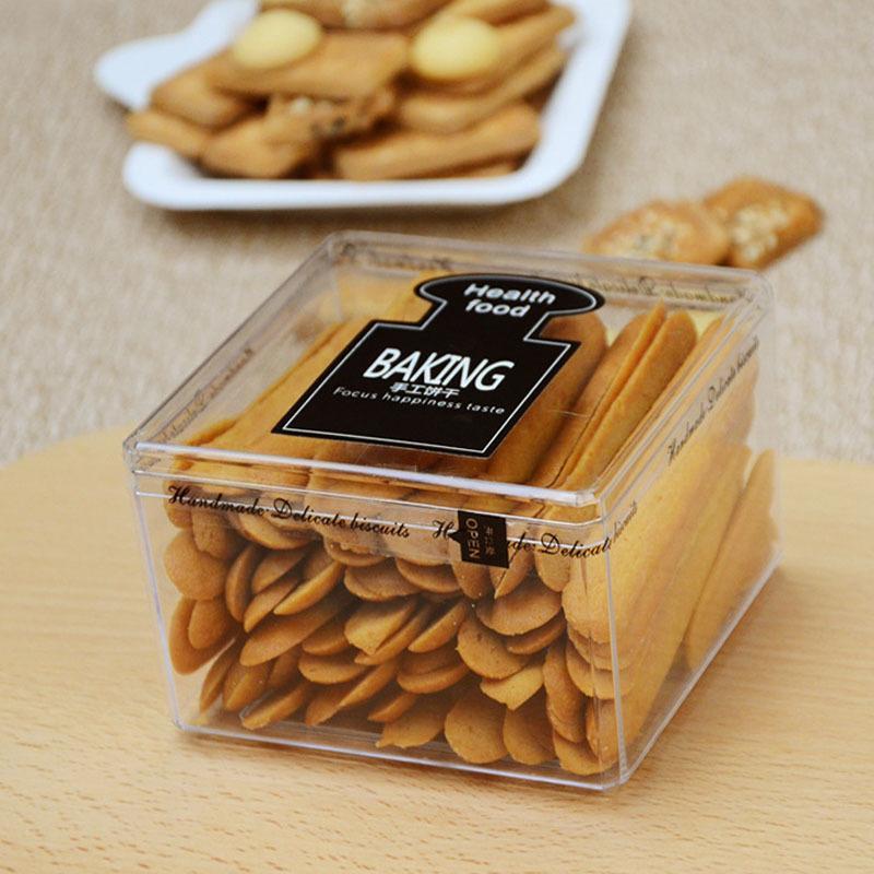 Пищевая сорт пластиковый бисквитный упаковочные коробки очищает DIY шоколадное печенье оптом выпечка контейнер контейнера для выпечки контейнер JCXG