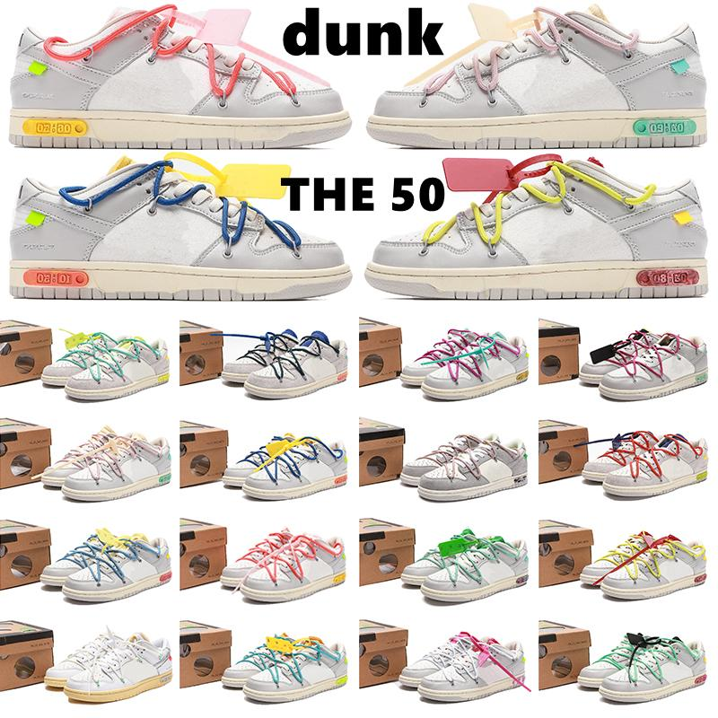 dunk low the 50 Running Shoes 50s OF 05 Authentic Collection Sail White Shoe Black Blue Orange 20 Top Neutral Men Women Sports Sneakers University Trainers Box
