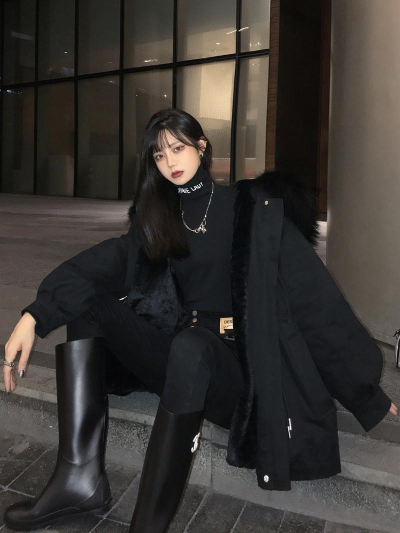 느슨한 면화 패딩 자켓이 두꺼운 스타일이있는 툴링 여성 파카의 겨울을 극복하십시오