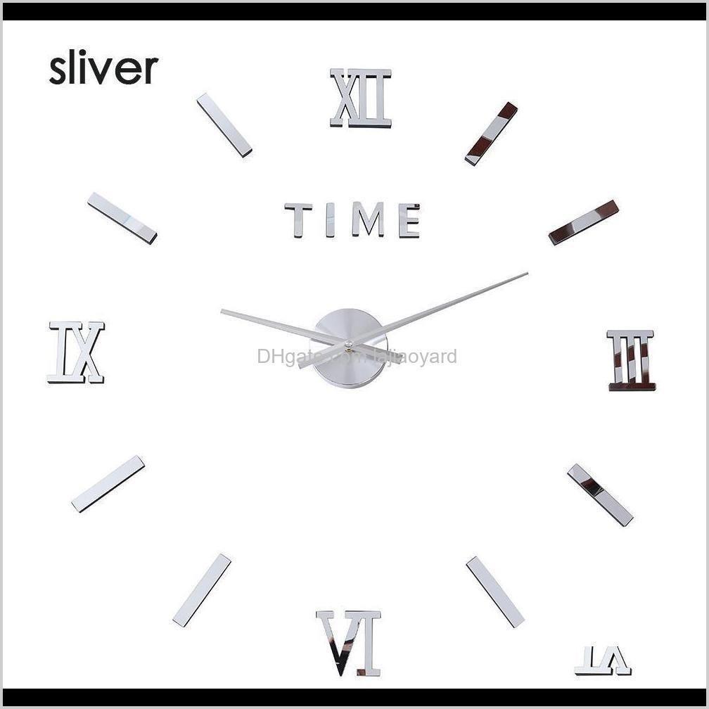 Andere Uhren Zubehör Große Wanduhruhr Spiegel Aufkleber DIY 3D Acryl Kurzes Modernes Design Leuchtende Luminova Zeiten Quarz Fashi Uny5i