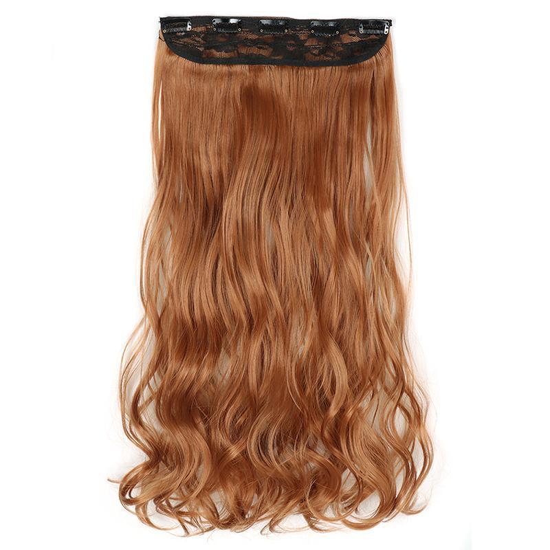 Sentetik Klipler Saç Uzantıları 5Clips 22 inç 120g Bir Adet Ponytails Kadınlar için Yüksek Sıcaklık Fiber Hairpieces