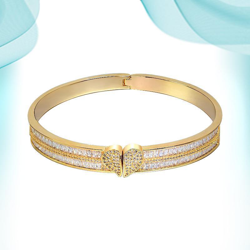 Bangle Women's Wrist Bracelets Oval Super Flash Bracelet Love Charm For Making Jewelry High-end Diamond Weeding Holiday Gifts