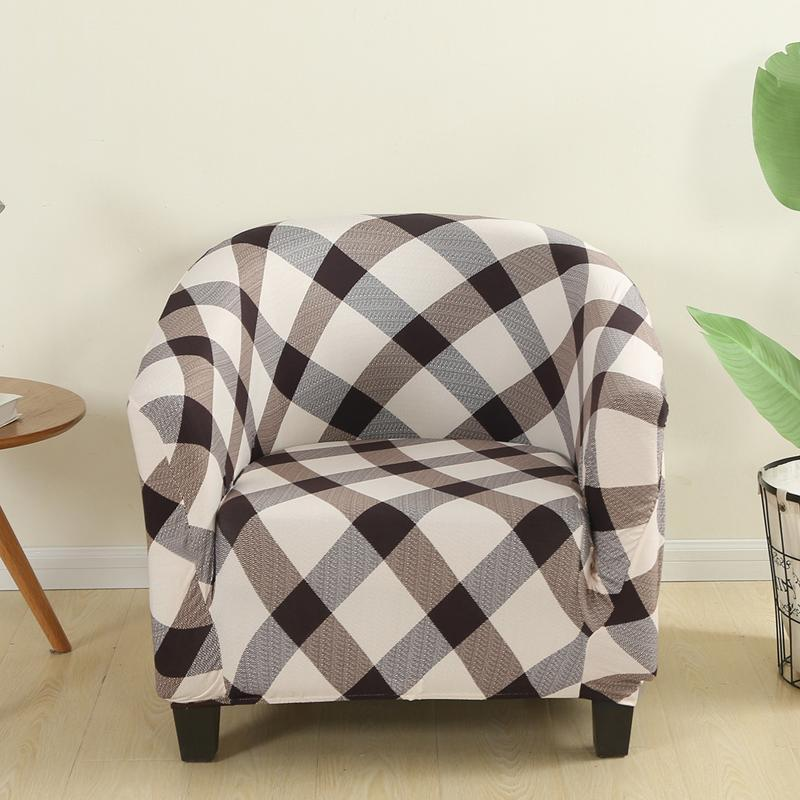 Gedruckte elastische Wanne Sofa Cover Sessel Club Chair Covers Stretch Slipcover Abnehmbare Couch für Gegenwelle