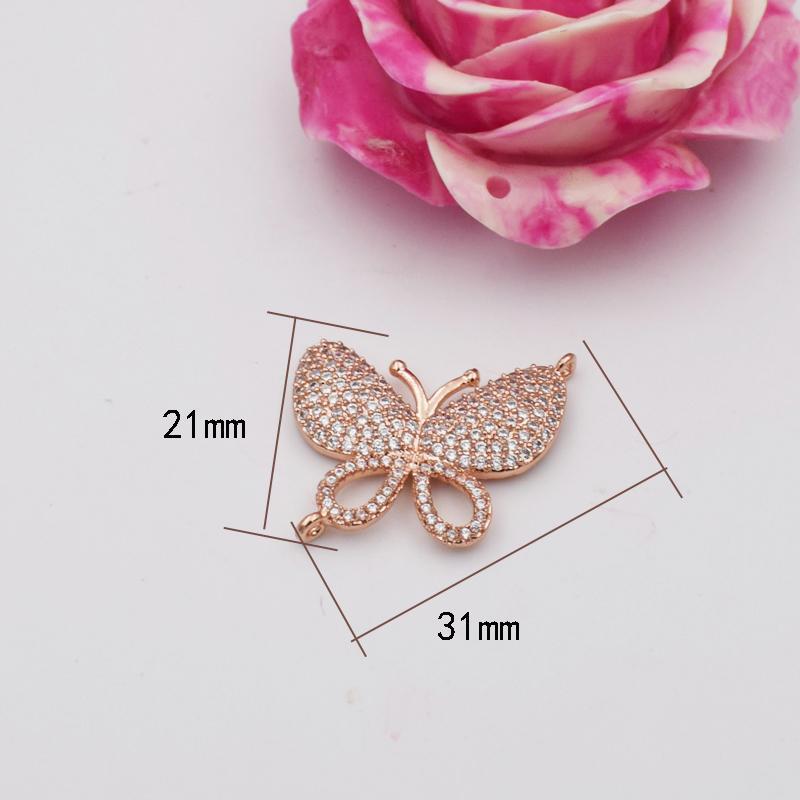 Microscope de haute qualité Zircon Bricolage Hand String Accessoires Matériaux Butterfly Boucle Fashion Pull Long Pull Chaîne Lien
