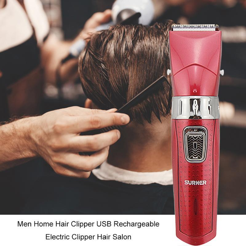 Barber Shop Men Hair Clipper Head Detachable Electric Cutting Trimmer USB Rechargeable Waterproof Clippers