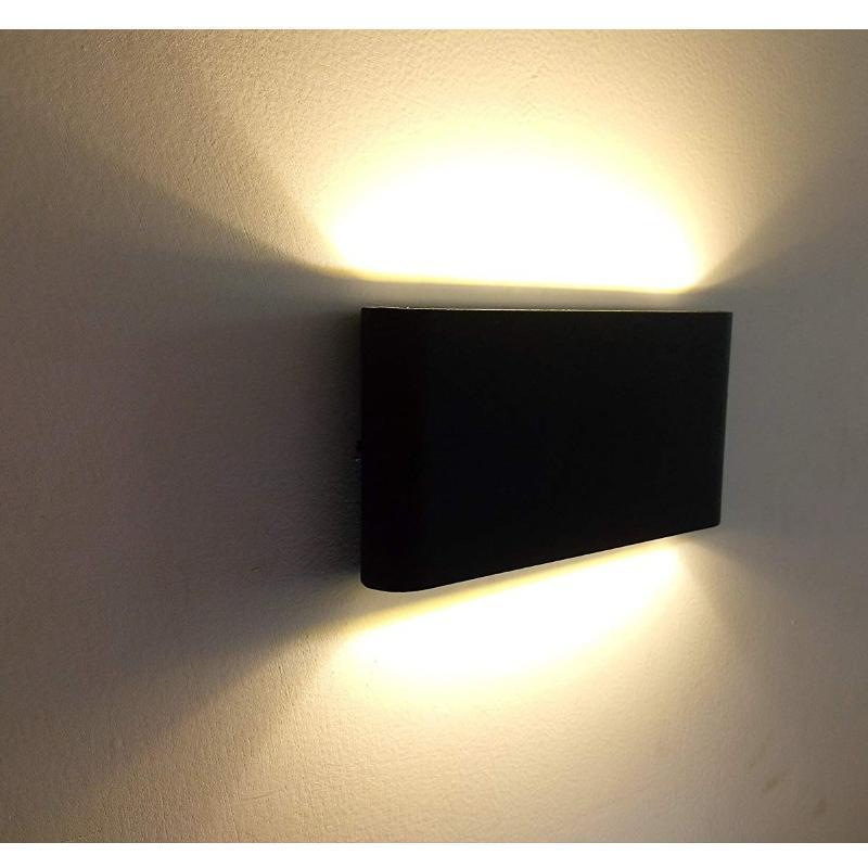 야외 방수 IP65 벽 램프 6W / 12W LED 빛 현대 실내 / 야외 장식 듀얼 헤드 알루미늄 램프