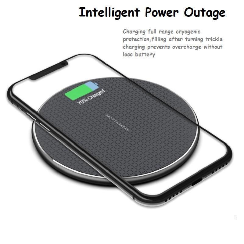 Carregador sem fio de 10w Qi para o iPhone 12 11 Pro Xs Max XR Huawei Samsung Pad de carregamento rápido