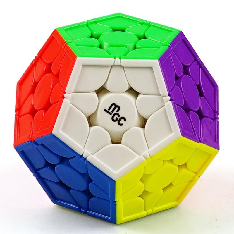 Yongjun mgc megaminxeds مكعب stickerless 3x3 yj mg mgc سرعة المغناطيسي مكعب 3x3x3 التعليمية الطفل الاطفال لغز اللعب cubo magic