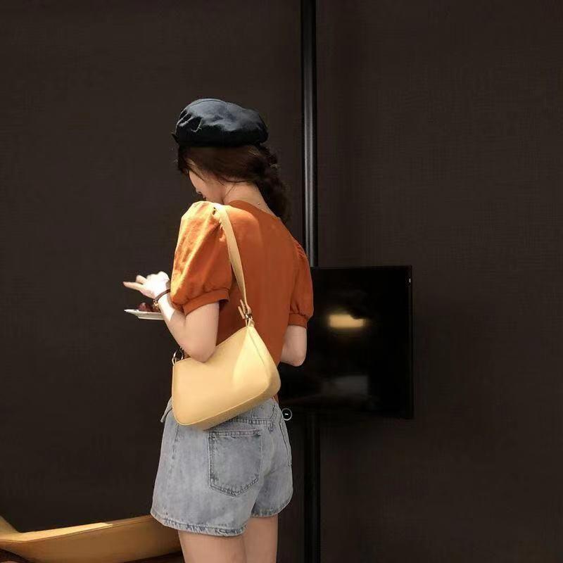 패션 고품질 금속 겨드랑이 여성의 어깨 가방 바게트 여성 PU 여행 핸드백 크로스 바디