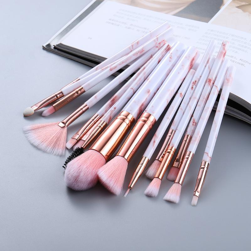 Maquillage pinceaux 15pcs outil outils cosmétique poudre oculaire fond de la fondation blingh brisant beauté maquille maquiagem