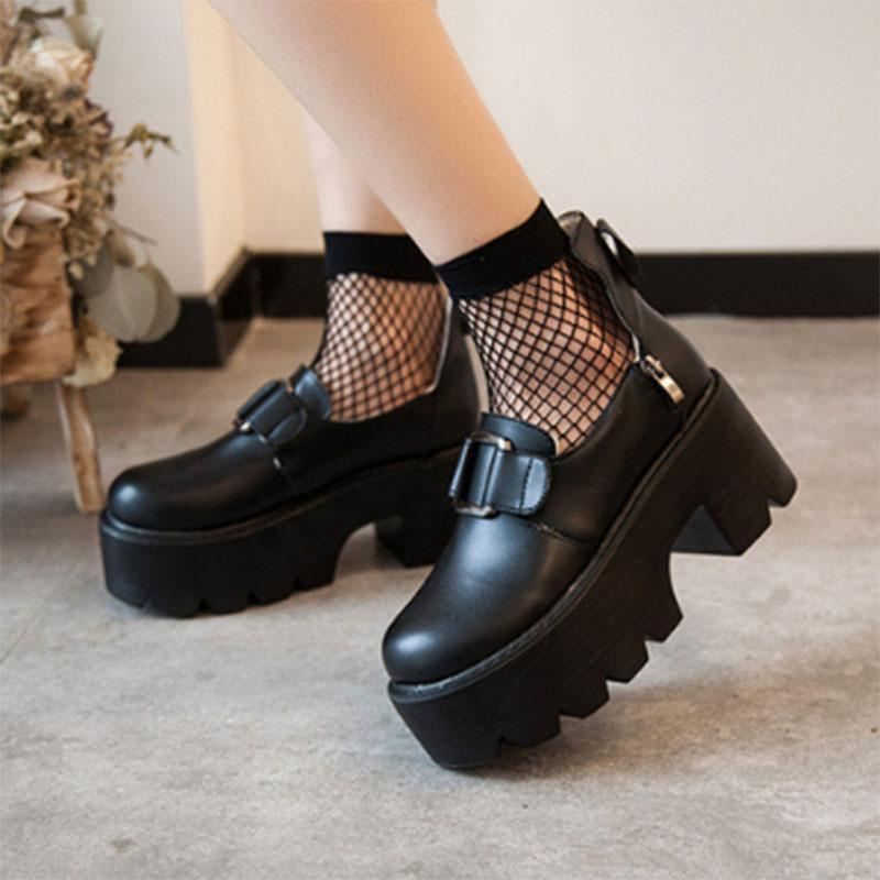 Dress Shoes Women Shoe Women's Sandals Fashion 2021platform Heels Loafers Mary Jane Autumn On Platform Pumps Chunky Designer
