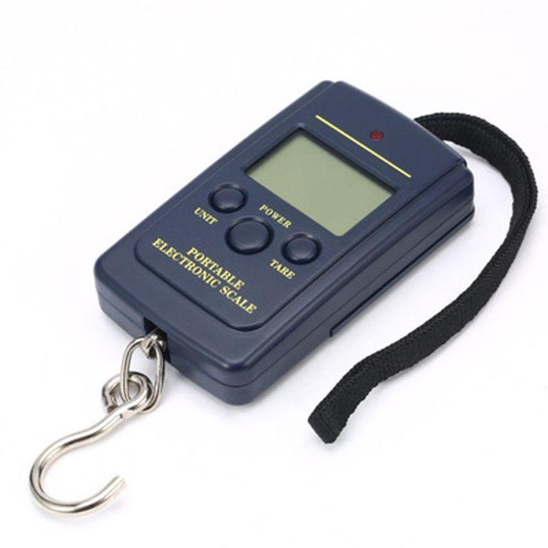 40kg/10g LED display Portable Mini Electronic Digital Scales Pocket Case For Kitchen Fishing Luggage Travel Weighting Steelyard Hanging Hook