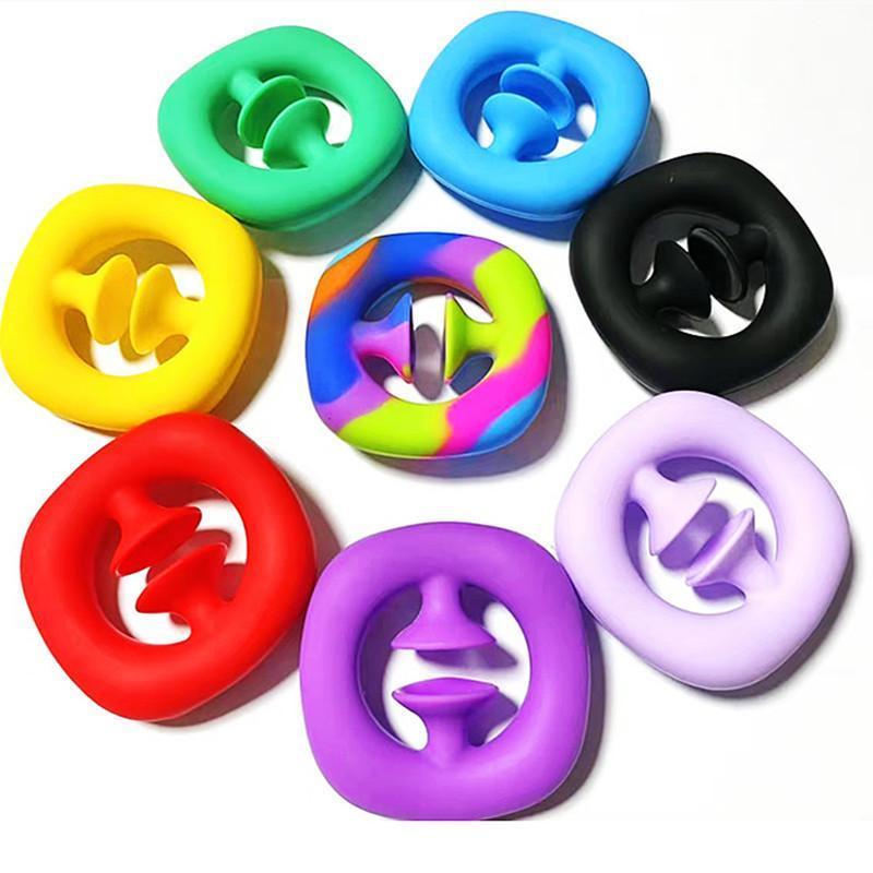 스냅 감각 실리콘 핸드 그립 장난감 Snappers Fidget Toys Fidget Sensory 그립 반지