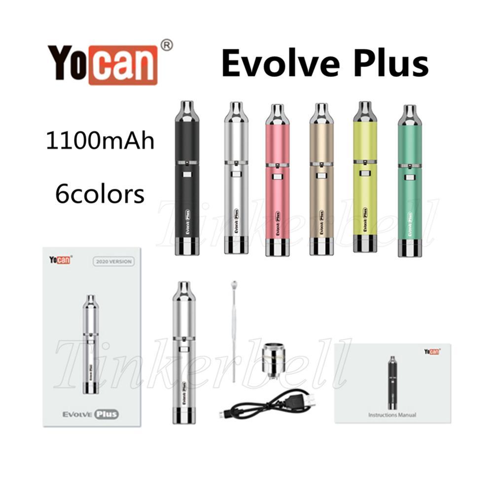 Kit original Yocan Evolve Plus Kit QDC Coils 1100mah Cire Pen Vaporisateur Dispositif Cigarettes électroniques