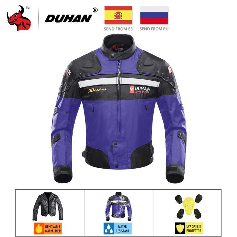 Motosiklet Ceketler Erkekler Sürme Motocross Enduro Yarış Ceket Moto Rüzgar Geçirmez Soğuk Hava Dayanıklı Motosiklet Giyim Koruma Giyim