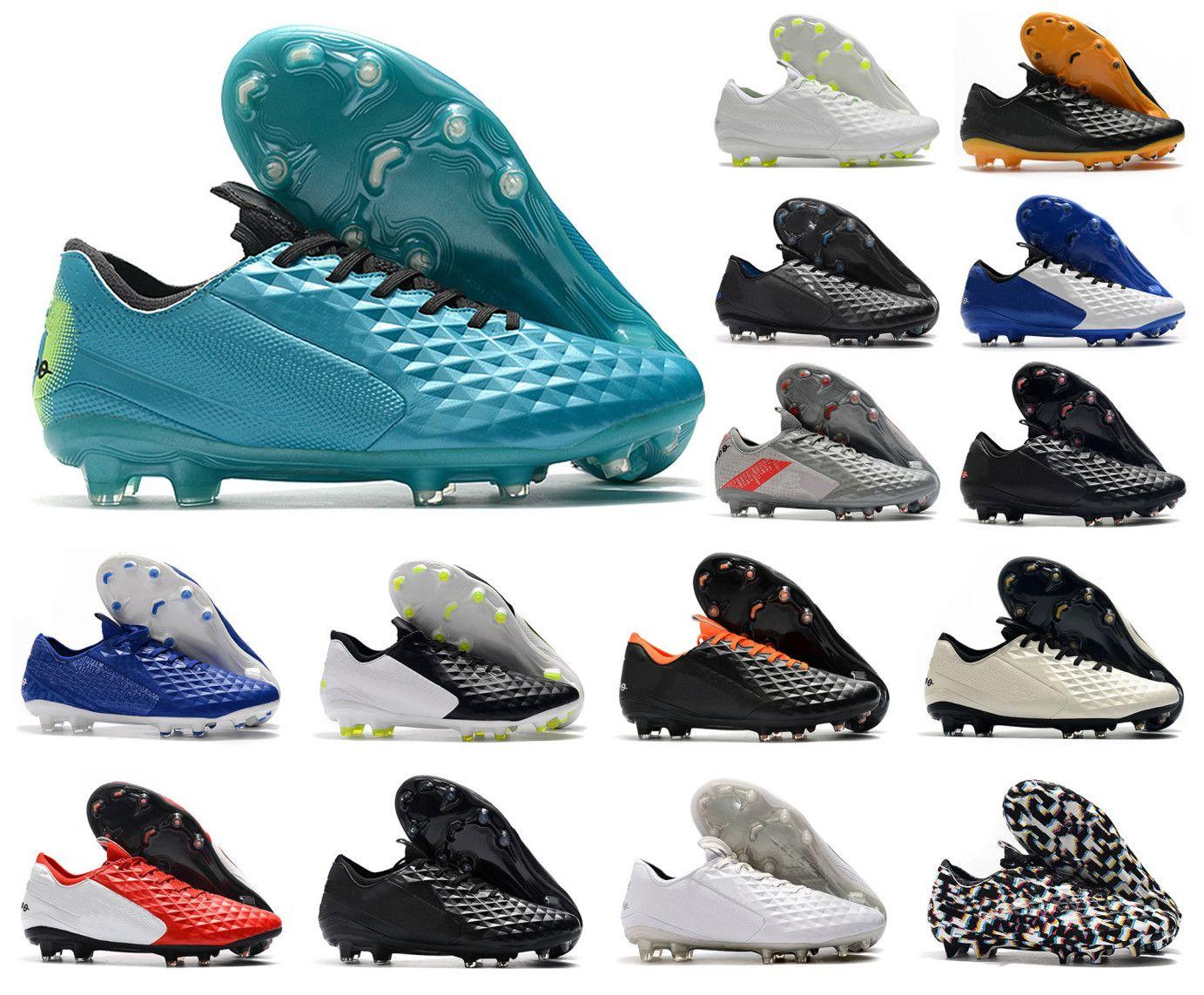 2021 Tiempo Legend VIII 8 Elite FG Football Soccer Shoes Invalse Pack Daybreak Abierhood 8S رجالي منخفض أحذية الكاحل المرابط US6.5-11