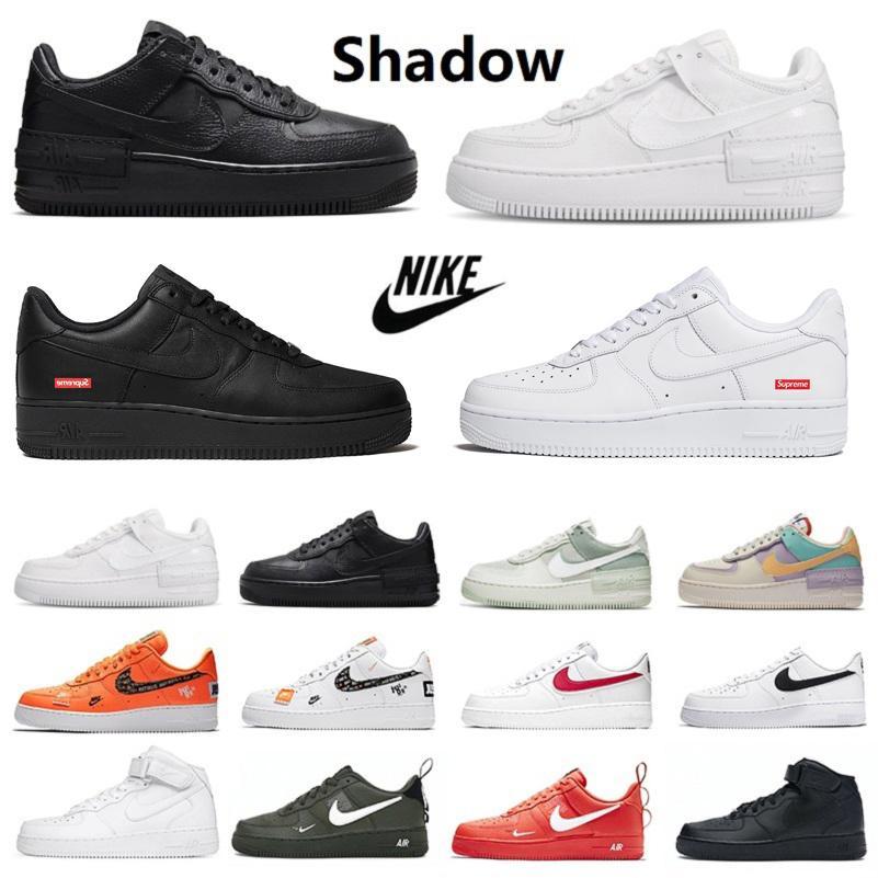 Nike Air Force 1 Shadow One Dunk Low 1 Utility caldo Bianco Nero Donna 1 Low Scarpe da corsa Sport Skateboard Ones Scarpe Bianco Nero Basso pastello all'aperto Sneaker Sneakers