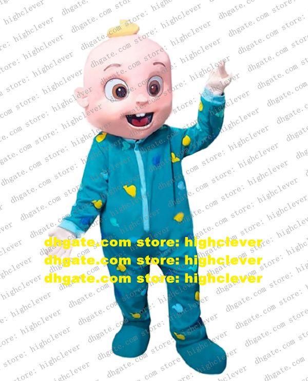 Cocomelon Baby Baby JJ Costumot Костюм для взрослого мультфильма наряда персонаж Костюм дня рождения поздравления выпускной вечеринка ZZ8310