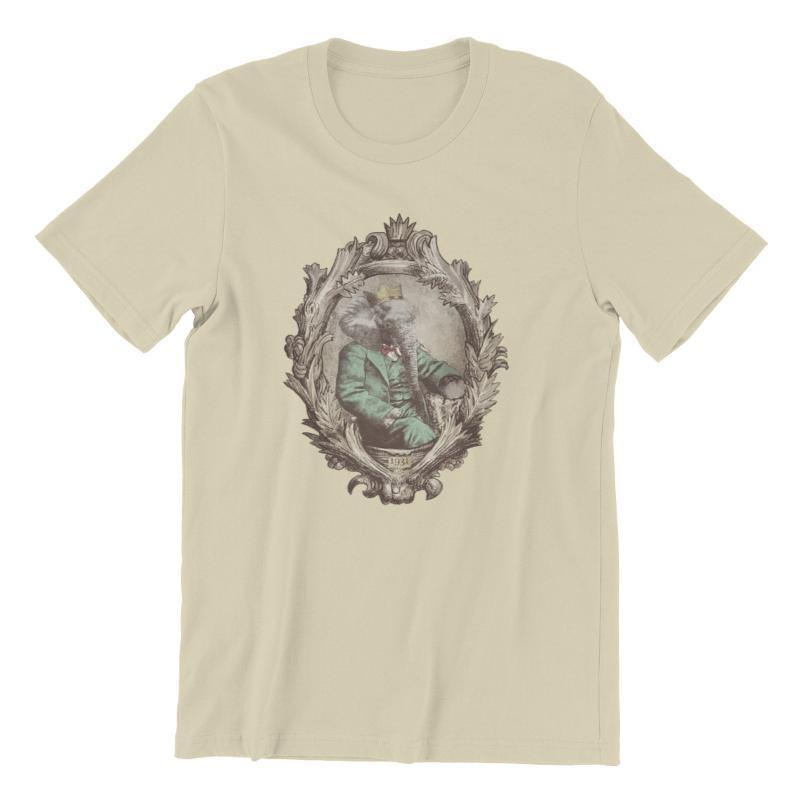 Camiseta para hombres Retrato real 1931 Imprimir manga corta Retro camisetas 73936