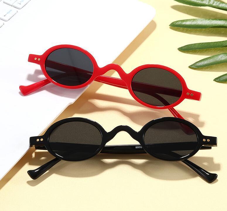 الأزياء الصغيرة جولة نظارات المرأة الكلاسيكية خمر steampunk مسمار الرجال نظارات الشمس ظلال uv400 البيضاوي الإناث النظارات الإطار