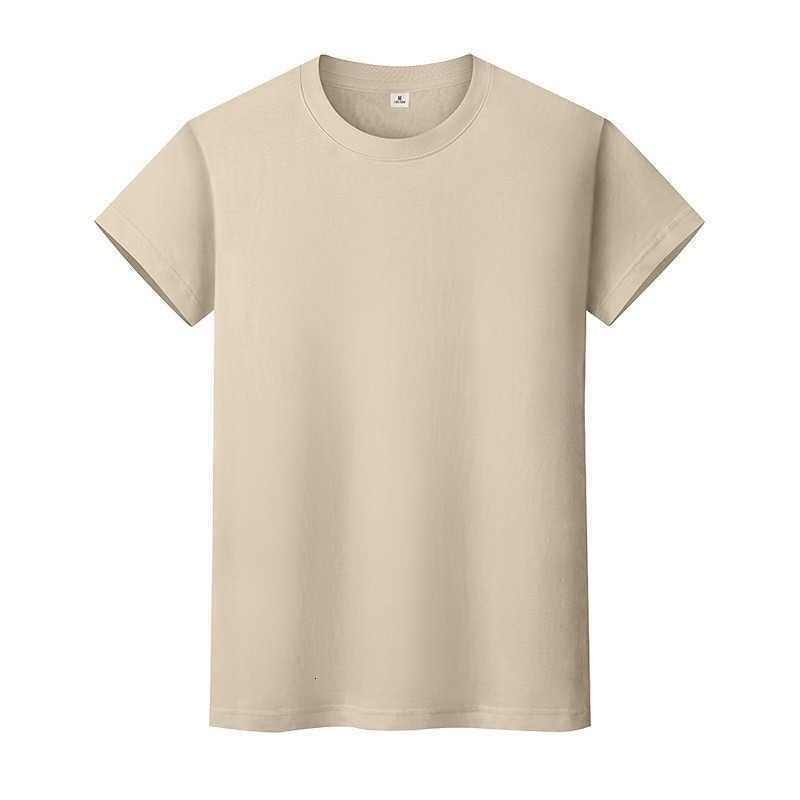 Yeni Yuvarlak Boyun Katı Renk T-Shirt Yaz Pamuk Dip Gömlek Kısa Kollu Erkek ve Bayan Yarım Kollu CXGJQ